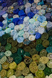 Selección de pedazos azules de ropa Foto de archivo libre de regalías