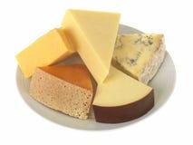 Selección de quesos mezclados Fotos de archivo
