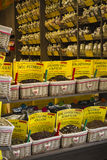 Selección de tés en cestas Imágenes de archivo libres de regalías