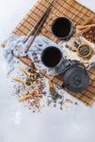 Selección de tetera herbaria china japonesa del té del masala Foto de archivo libre de regalías