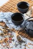 Selección de tetera herbaria china japonesa del té del masala Fotografía de archivo