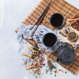 Selección de tetera herbaria china japonesa del té del masala Fotografía de archivo libre de regalías