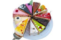 Selección de un pedazo de torta con la jalea amarilla Fotografía de archivo libre de regalías