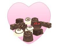 Selección del chocolate Foto de archivo