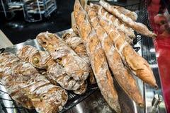 Selección del pan del artesano Imagenes de archivo