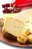 Selección del queso Foto de archivo libre de regalías