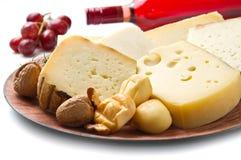 Selección del queso Imágenes de archivo libres de regalías