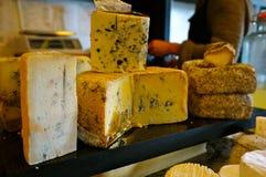 Selección del queso Imagen de archivo libre de regalías