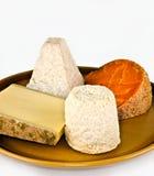 Selección del queso de Continenal Fotos de archivo