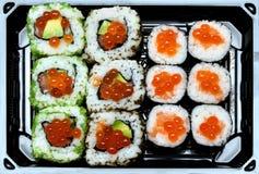 Selección del sushi Foto de archivo
