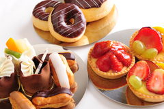 Selección fresca de los pasteles Imagen de archivo libre de regalías