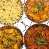 Selección india del curry Foto de archivo
