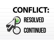 Selección resolved de la pregunta y de la respuesta del conflicto Imagen de archivo libre de regalías