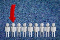 Selección del hombre para arriba seleccionado del grupo de hombres de negocios Imagen de archivo