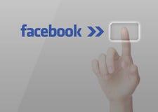 Seleccione Facebook ilustración del vector