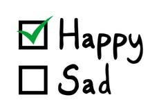 Seleccione la emoción feliz stock de ilustración