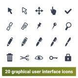 Seleccione, modifiqúese, diseñador gráfico Tools Icons Set stock de ilustración