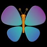 Selecciones y secuencia Peg Butterfly Graphic de la guitarra Foto de archivo