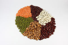 Selecion of beans Royalty Free Stock Photography