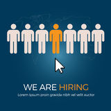 Select The Best Person From Group Of Human Icon For The Job Vacancy. Job search and career choice employment concept with human icon, recruitment and occupation Royalty Free Stock Image