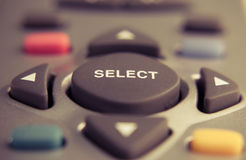 Select button. On the control panel Stock Photo