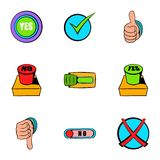 Select button icons set, cartoon style Stock Images