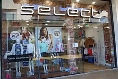 Select clothes shop Stock Images