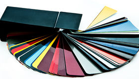 Select color for car. Fans for the selection of colour on a white background Stock Images