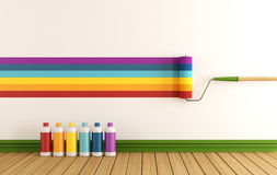 Select color swatch to paint wall Stock Photos