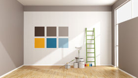 Select color swatch to paint wall Royalty Free Stock Photo