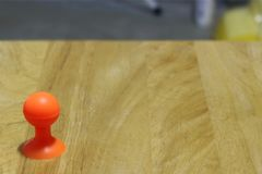 Select focus, rubber suction cup stand on floor wood Royalty Free Stock Photo