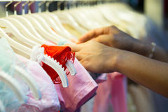 Select kids clothes Stock Photography