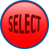 Select push button Royalty Free Stock Photography