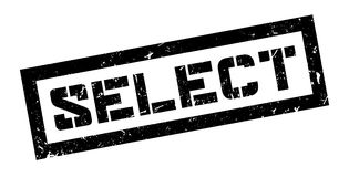 Select rubber stamp Stock Image