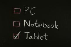 Select tablet Royalty Free Stock Photo
