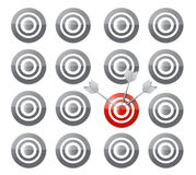 Select your target concept illustration design Stock Image
