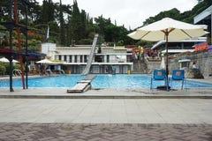 Selecta waterpark in batu city stock images