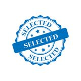 Selected stamp illustration Stock Photos