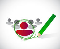 Selected candidate illustration design Royalty Free Stock Image