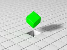 Selected cube Royalty Free Stock Photo