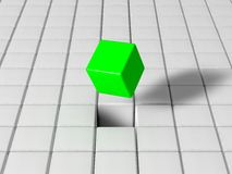 Selected cube Stock Photo