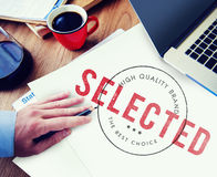 Selected Decision Result Selection Yes Status Concept Stock Photography
