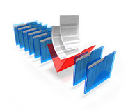 Selected documents Royalty Free Stock Photos