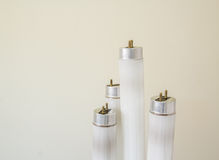 Selected focus fluorescent light tube Royalty Free Stock Photos