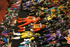 Selected focused on fictional character action figure from Japanese popular series KAMEN RIDER. royalty free stock photos
