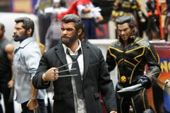 Selected focused fictional character action figure Wolverine.
