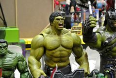 Free Selected Focused Of Hulk Character Action Figures From Marvel Comic. Royalty Free Stock Images - 130295299
