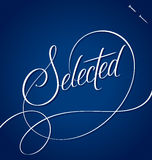 SELECTED hand lettering (vector) Royalty Free Stock Image