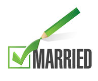 Selected married with check mark. illustration Stock Image