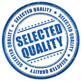 Selected quality stamp. On white background Stock Photography